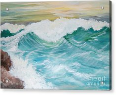 The Mighty Pacific Acrylic Print by Janna Columbus