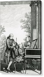 The Mozart Family On Tour, 1763 Acrylic Print by Photo Researchers