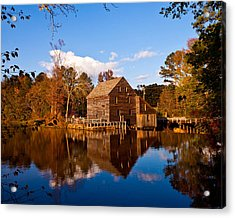 The Old Yates Mill Acrylic Print by Sheila Kay McIntyre