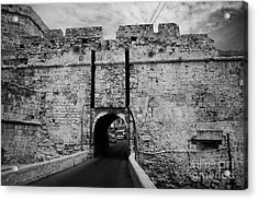 The Porta Di Limisso The Old Land Gate In The Old City Walls Famagusta Turkish Republic Cyprus Acrylic Print by Joe Fox
