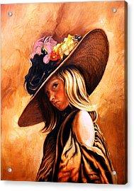 The Portrait Of A Girl Acrylic Print by Jivan Hovhannisian