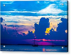 The Purple Sunset Acrylic Print