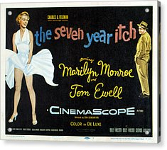 The Seven Year Itch, Marilyn Monroe Acrylic Print by Everett