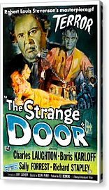 The Strange Door, Charles Laughton Acrylic Print by Everett