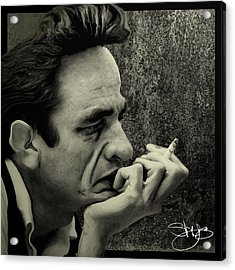 The Thinker  Acrylic Print by Shy  Blakeman