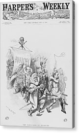 The Vanguard Of Anachy, Caricatures Acrylic Print by Everett