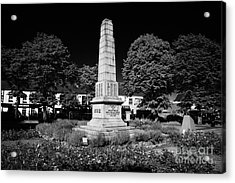 The War Memorial Newtownards County Down Northern Ireland Acrylic Print by Joe Fox