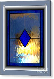 Acrylic Print featuring the digital art The Window by Dale   Ford