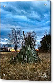 The Woodstack Acrylic Print