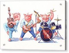 Thin Piggy Acrylic Print