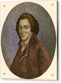 Thomas Paine, American Patriot Acrylic Print by Photo Researchers