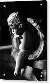 Thoughtful Cherub Acrylic Print