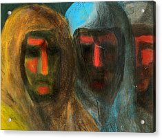 Three Figures Acrylic Print by Chester