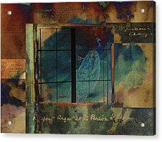 Through A Glass Darkly Acrylic Print by Sarah Vernon