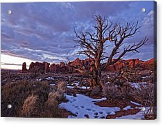 Timed Exposure Of Sunset Clouds Acrylic Print by Robert Postma