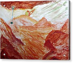Titan Moon Of Saturn Acrylic Print