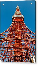 Tokyo Tower Faces Blue Sky Acrylic Print by U Schade