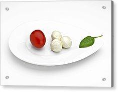 Tomato Mozzarella Acrylic Print