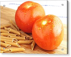 Tomatoes And Pasta Acrylic Print by Blink Images