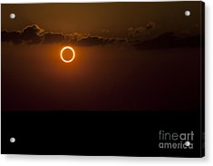 Totality During Annular Solar Eclipse Acrylic Print by Phillip Jones