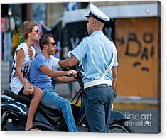 Traffic Cop Acrylic Print by Andrew  Michael