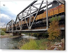 Train Over Troubled Water  Acrylic Print