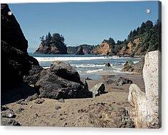 Acrylic Print featuring the photograph Trinidad Beach by Sharon Elliott
