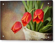 Acrylic Print featuring the digital art Tulip Cascade by Cheryl Davis