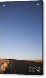 Two Lane Road Between Fields Acrylic Print by Jetta Productions, Inc