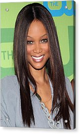 Tyra Banks At Arrivals For The Cw Acrylic Print by Everett