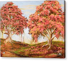 Under The Trees Acrylic Print by Vic  Mastis