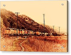 Union Pacific Locomotive Trains . 7d10558 Acrylic Print by Wingsdomain Art and Photography