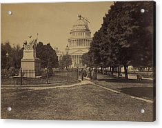 United States Capitol Building In 1863 Acrylic Print by Everett
