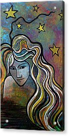 Acrylic Print featuring the painting Untitled Girl by Monica Furlow