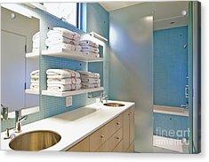 Upscale Bathroom Interior Acrylic Print by Inti St. Clair