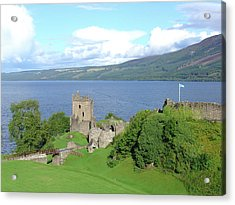 Acrylic Print featuring the photograph Urquhart Castle by Charles and Melisa Morrison