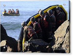 U.s. Navy Seal Candidates Participate Acrylic Print by Stocktrek Images