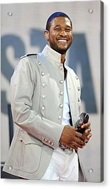 Usher On Stage For Abc Gma Concert Acrylic Print by Everett