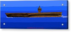 Uss Enterprise Cvan 65 Acrylic Print by Carl Deaville
