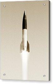 V-2 Rocket Acrylic Print by Detlev Van Ravenswaay