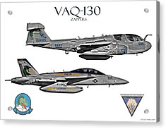 Vaq-130 Prowler And Growler Acrylic Print by Clay Greunke