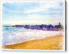 Venice Beach Acrylic Print by Dawn Serkin