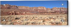 Vermillion Cliffs Panorama Acrylic Print by Bob and Nancy Kendrick