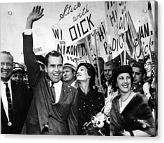Vice President Richard Nixon And Wife Acrylic Print by Everett