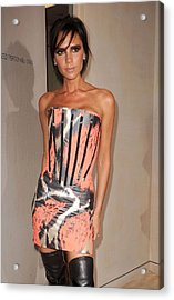 Victoria Beckham Wearing A Giles Dress Acrylic Print by Everett