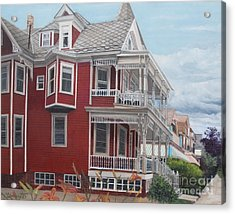 Victorian Afternoon Cape May Acrylic Print by Barbara Barber