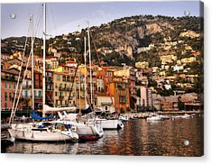 Villefranche-sur-mer  Acrylic Print by Steven Sparks