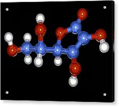 Vitamin C Molecule Acrylic Print by Laguna Design