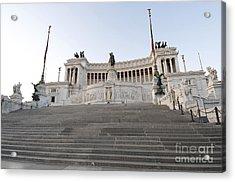 Vittoriano Monument To Victor Emmanuel II. Rome Acrylic Print by Bernard Jaubert