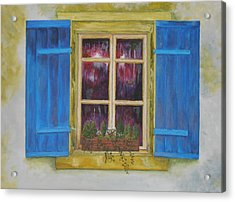 Viva Le Bleu Acrylic Print by Siobhan Lawson